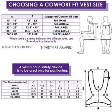 30589 30590 30591 30592 30593 Comfort Fit Wheelchair Vest, Full Shape 2