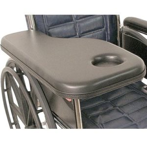 30305 30306 30307 30308 Padded Half Wheelchair Tray with Cupholder, Standard Steel Channel Bracket 2