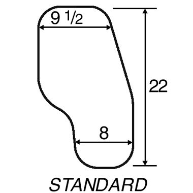 30305 30306 30307 30308 Padded Half Wheelchair Tray with Cupholder, Standard Steel Channel Bracket 3A