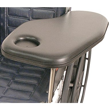30305 30306 30307 30308 Padded Half Wheelchair Tray with Cupholder, Standard Steel Channel Bracket