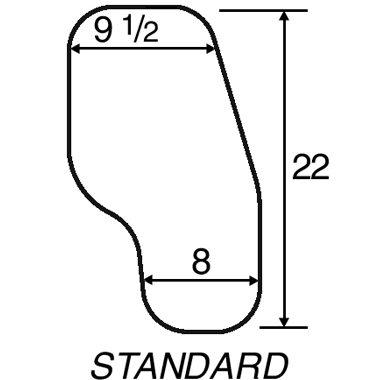 30310 30311 30314 30315 Clear Half Wheelchair Tray, Standard Steel Channel Bracket 3A