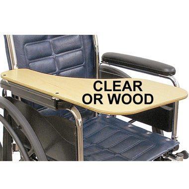 30331 30330 Wraparound Half Wheelchair Tray, Clear 3