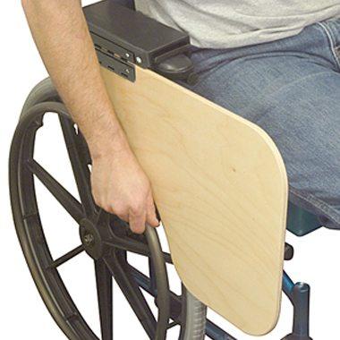 30386 30385 Flip-Down Half Wheelchair Tray, Woodgrain 2