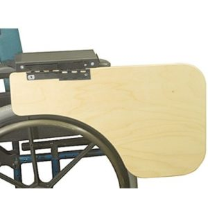 30386 30385 Flip-Down Half Wheelchair Tray, Woodgrain