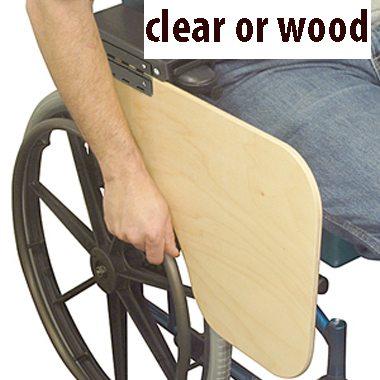 30388 30387 Flip-Down Half Wheelchair Tray, Clear 3