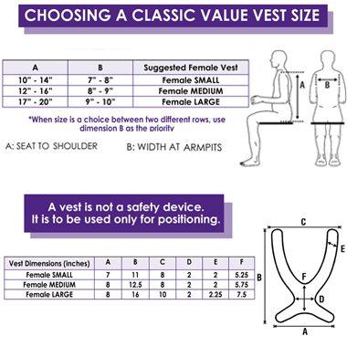 30401p 30401s 30401m 30401l 30401x 30457 30458 30459 Classic Value Wheelchair Vest, Extended Straps 2
