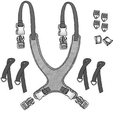 30401p 30401s 30401m 30401l 30401x 30457 30458 30459 Classic Value Wheelchair Vest, Extended Straps 3
