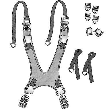 30402p 30402s 30402m 30402l 30402x 31497s 31497m 31497l Classic Value Wheelchair Vest, Comfort Fit Straps 4