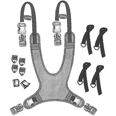 30594 30595 30596 30597 30598 Extended Strap Wheelchair Vest, Full Shape 3