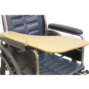 41365 41364 Wraparound Half Wheelchair Tray, Woodgrain