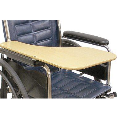 41365 41364 Wraparound Half Wheelchair Tray, Woodgrain
