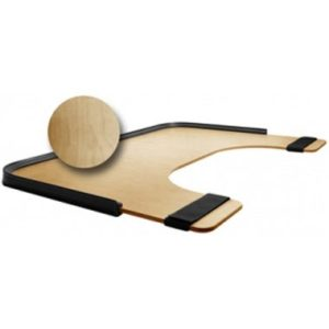 t59116u Bariatric Wheelchair Tray Woodgrain